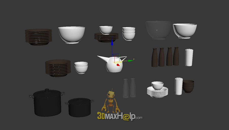 06 Dishes 3DMaxHelp