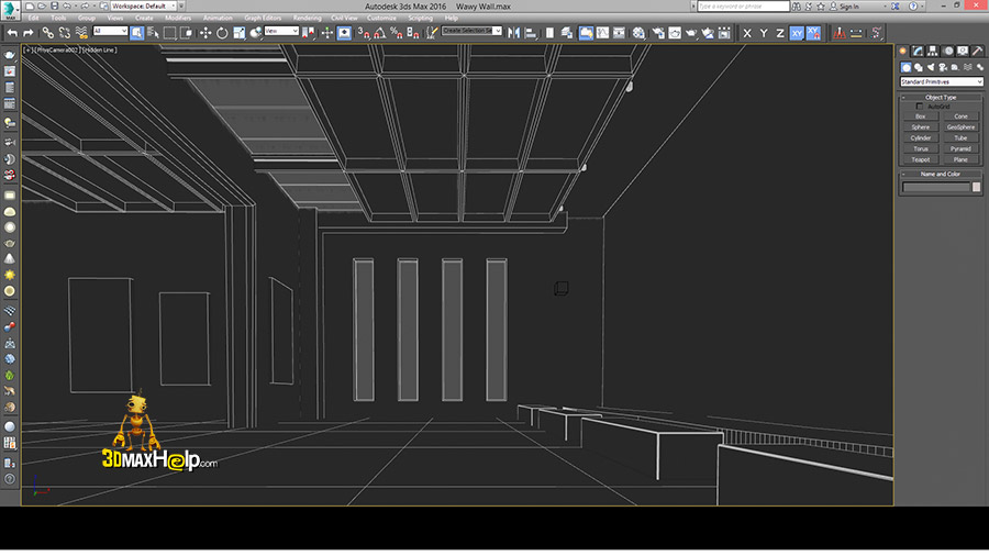 3dmaxhelp How to create a wavy wall 3