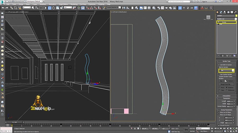 3dmaxhelp How to create a wavy wall 6