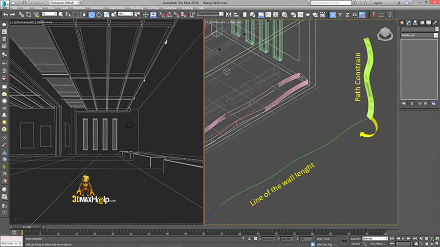 3dmaxhelp How to create a wavy wall 7