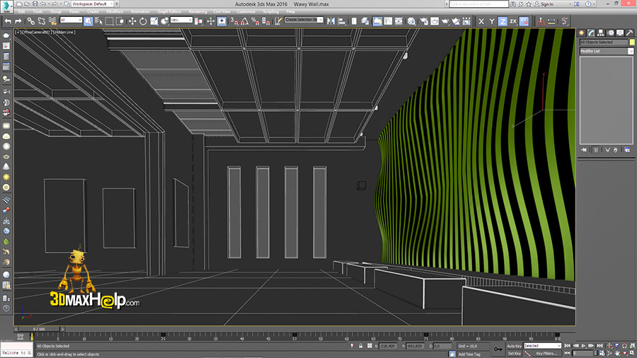 3dmaxhelp How to create a wavy wall 9